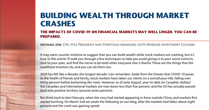 Building Wealth Through Market Crashes